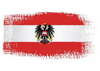 brushstroke flag Austria with transparent background