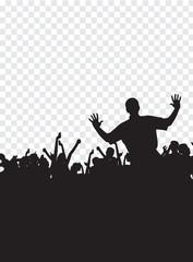Crowd of dancing people. Vector