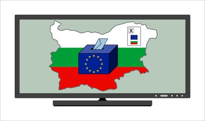 Bulgarian vote for the European Parliament on the TV