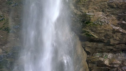alpine waterfall close up