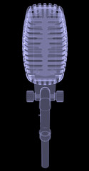 Studio microphone. X-ray render