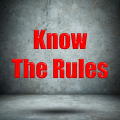 Know The Rules concrete wall