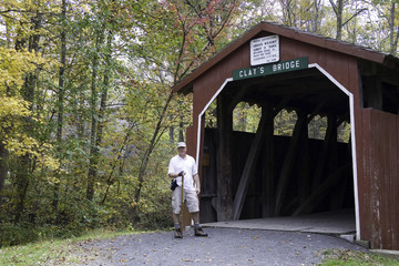 Hiker at Clay's Bridge