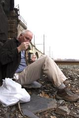 Homeless Man Living Off the Grid