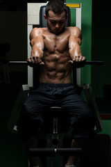 Effort On The Bench Press Exercise Machine