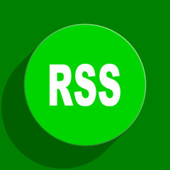 rss green flat icon