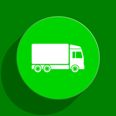 delivery green flat icon
