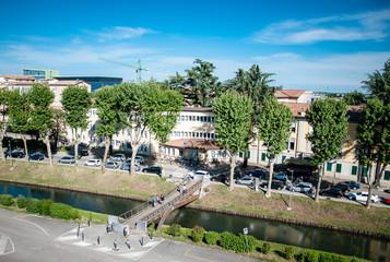 Passerella pedonale sulla Riva dell'Ospedale Cittadella
