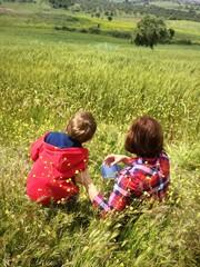 Doğada Anne ve Çocuk