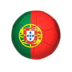 football ball with Portugal flag