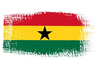 brushstroke flag Ghana