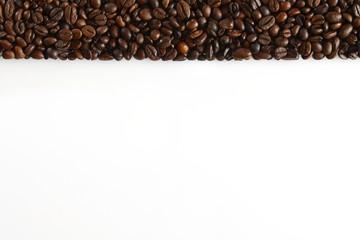 vorlage mit kaffebohnen streifen oben,präsentation, druck