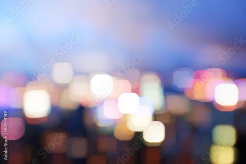 Deurstickers Hong-Kong blured lighhts from peak Victoria, Hong Kong