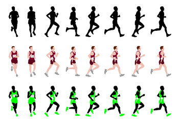 marathon runner - vector