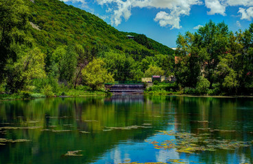 Jermuk pond, Armenia
