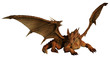 Large Red Dragon Prowling - 64554779