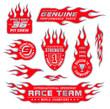 Flame logo emblems set - 64554935