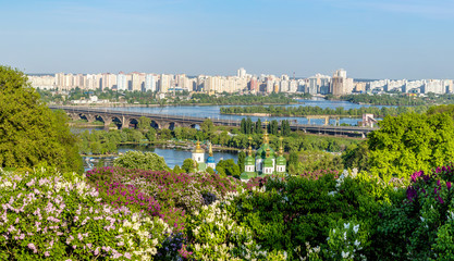 Panorama of the city Kiev, Ukraine