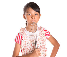 Young Girl With Egg Beater