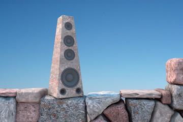 Loudspeaker of stone