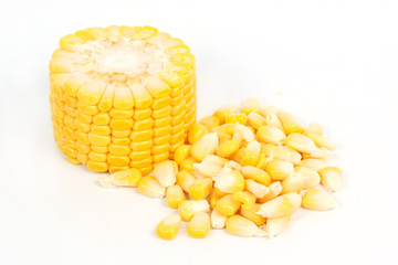 Fresh raw corn and seed