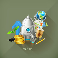Start-up business project and its development