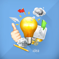 Idea concept, business brainstorming