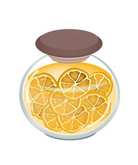 A Jar of Delicious Preserved Fresh Orange