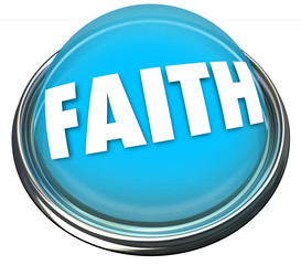Faith Blue Button Belief Higher Power God Spirituality