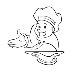 Chef Holding Food Tray