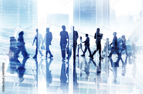 Abstract Image of Business People's Busy Life - 64558586