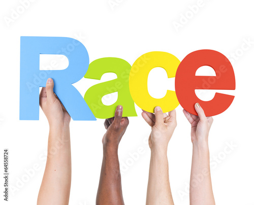 Diverse Hands Holding The Word Race