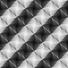 Design seamless vortex stripy geometric pattern