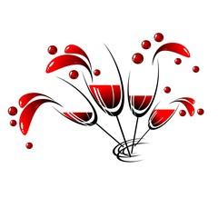 logo, drinks, vine, glass, restaurant, holiday, vector