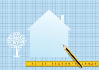 Haus planen und entwerfen