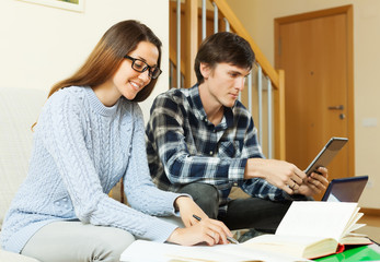 couple preparing for exam together
