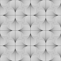 Design seamless twirl movement checked geometric pattern
