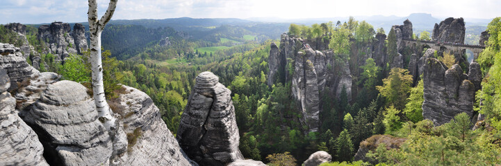 Panoramafoto Bastei / Elbsandsteingebirge