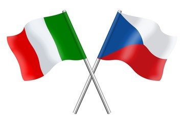 Flags : Italy and Czech Republic