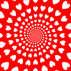 Design colorful helix movement hearts background