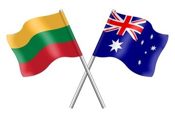 Flags: Lithuania and Australia