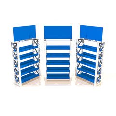 Blue shelves truss