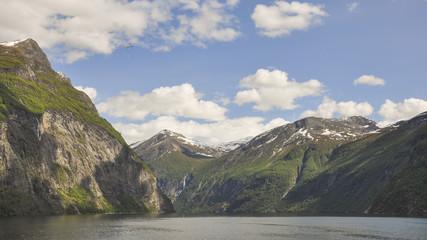Geiranger, Geirangerfjord, Fjord, Mittelgebirge, Norwegen