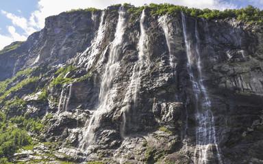 Geiranger, Geirangerfjord, Sieben Schwestern, Norwegen