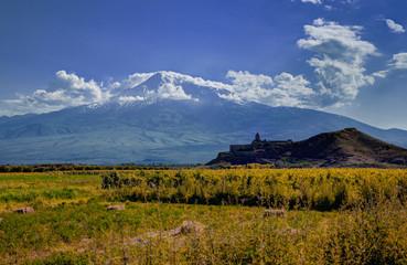 Khor Virap monastery in front of Mount Ararat