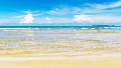 Clean beach on summer
