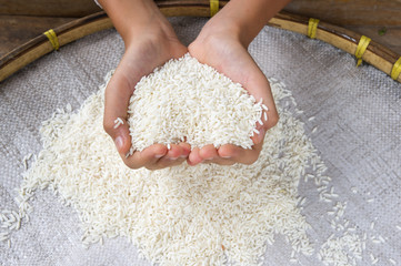 Rice on hand
