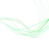 Abstract green swoosh lines fly background