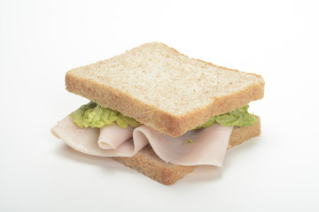 Sandwich de pechuga de pavo en fiambre