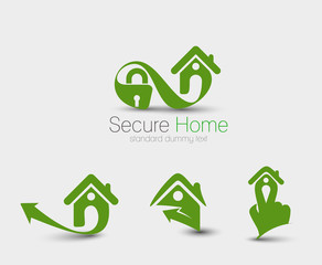 Symbol of Home Security Set, isolated vector design